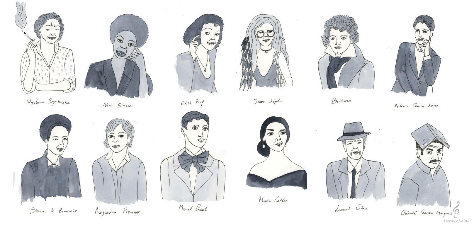 Iustración para Letras y Notas por Brianda Fitz-James Stuart